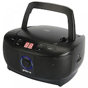 Groov-e Mini Boombox Portable CD Player with Radio Black UK Plug