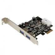 StarTech 2 Port PCI Express SuperSpeed USB 3.0 Card Adapter with UASP LP4 Power