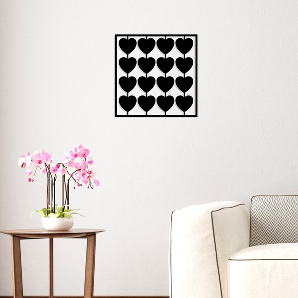 The Things We Do For Love Black Decorative Metal Wall Accessory