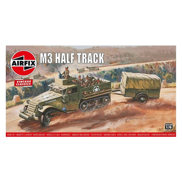 M3 Half-Track 1:76 Vintage Classic Military Air Fix Model Kit