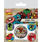 Marvel Retro - Iron Man Badge Pack