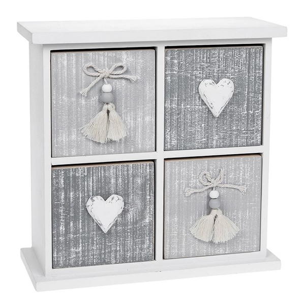 Provence Cool Grey 4 Drawer Chest