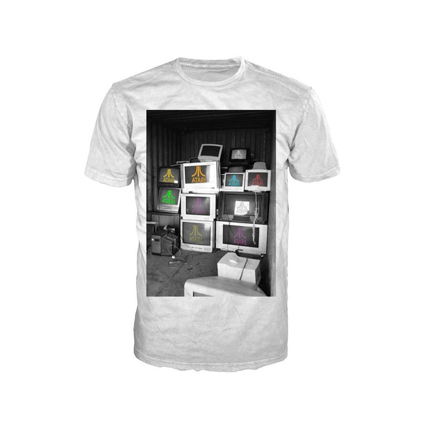Atari - Computer Screens Men's Large T-Shirt - White