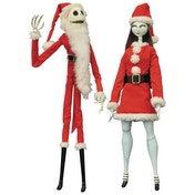Santa Jack and Sally (Nightmare Before Christmas) Limited Edition Action Figure Coffin Set