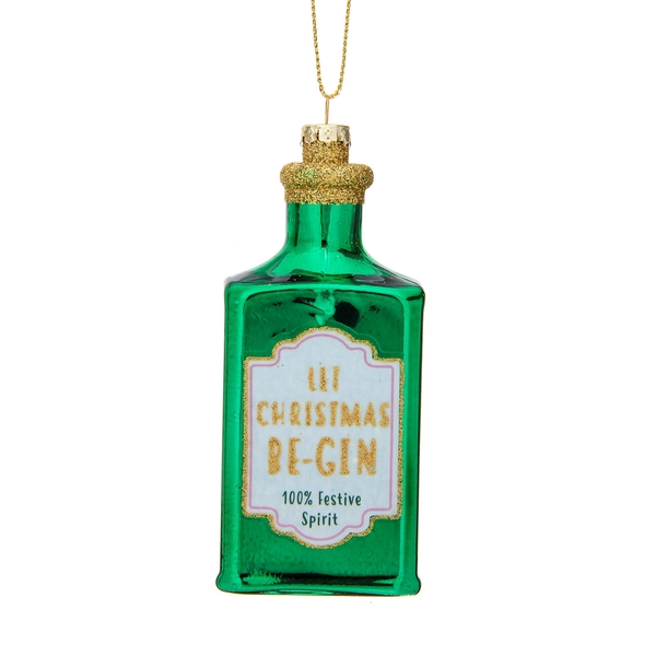 Sass & Belle Let Christmas Be-Gin Shaped Bauble