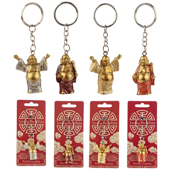 Lucky Buddha Keyring (1 Random Supplied)