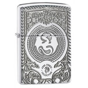 Zippo Fire Breathing Dragon Surprise Brushed Chrome Windproof Lighter