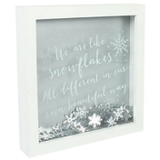We Are All Like SnowFlakes Glitter Frame
