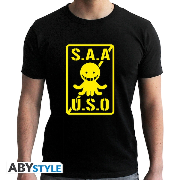 Assassination Classroom - S.A.A.U.S.O Men's Large T-Shirt - Black