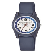 Lorus R2355NX9 Kids Time Teacher With Blue Silicone Strap Watch