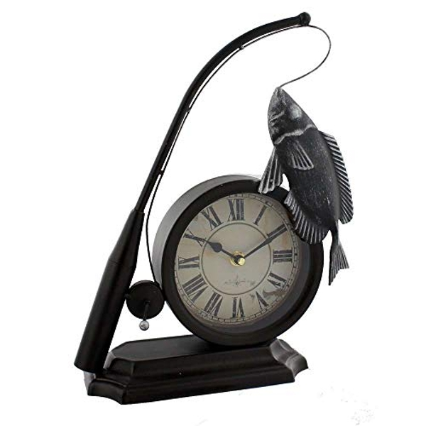 Hometime Mantel Clock - Fishing Rod & Fish