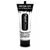 (5 Pack) PaintGlow UV Neon Face & Body Paint (White) 10ml