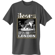 The Doors - Roundhouse London Men's X-Large T-Shirt - Charcoal Grey