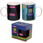 Retro Gaming Design Heat Colour Changing New Bone China Mug
