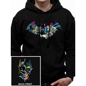Batman - Gotham Face Men's Large Hooded Sweatshirt - Black