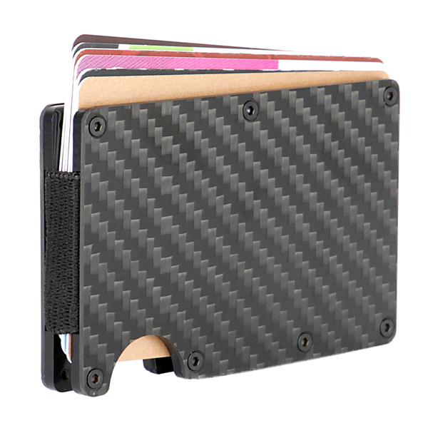 6152d8f65175 Carbon Fibre Mens RFID Blocking Card Wallet | M&W