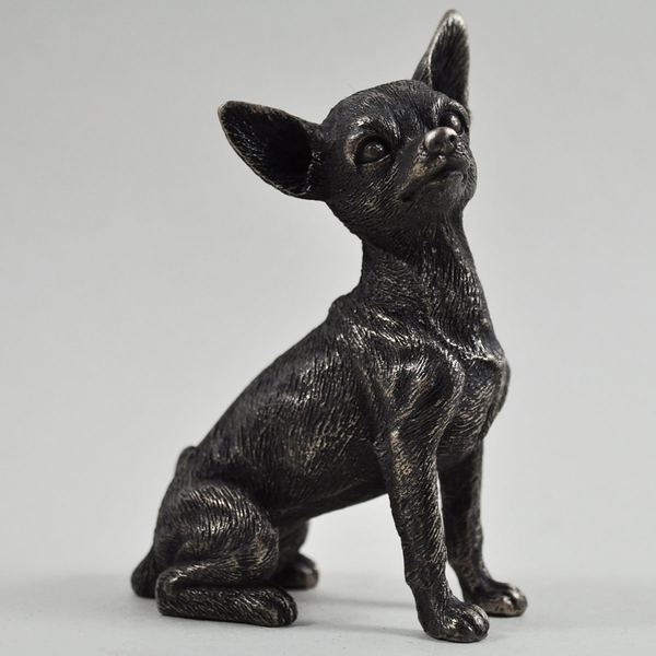 Chihuahua Cold Cast Bronze Sculpture