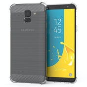 CASEFLEX SAMSUNG GALAXY J6 (2018) CARBON ANTI FALL TPU CASE - CLEAR