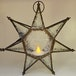 Iron Clear Glass Hanging Lantern 7 Point Star - Image 2