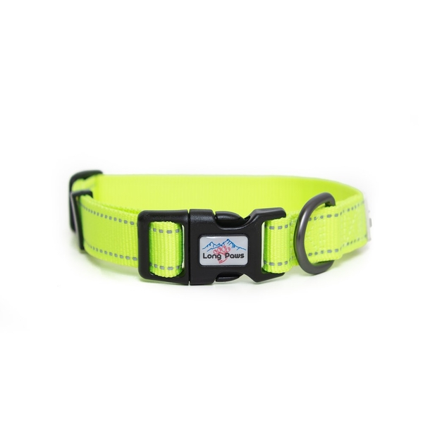Long Paws Urban Trek Reflective Collar Extra Small Neon Yellow