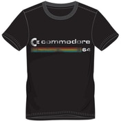 Commodore 64 Logo Men's Large T-Shirt - Black