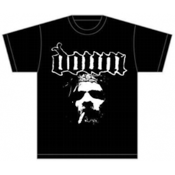 Down Face Mens T Shirt: Black Medium
