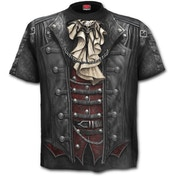 Goth Wrap Allover Men's Medium T-Shirt - Black