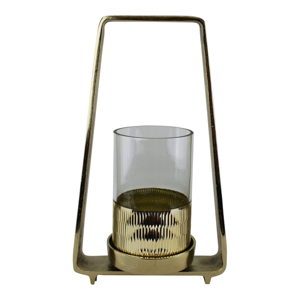 Gold Metal Candle Holder 34cm