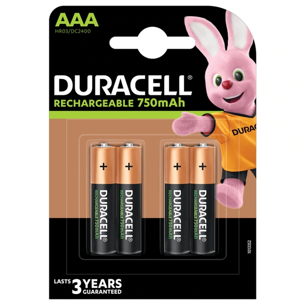 Duracell HR3-B AAA 850mAh Rechargeable 4 Pack
