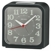 Seiko QHK048K Bell Alarm Clock with Snooze & Light Black