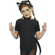Cat Instant Set Black with Ears Tail and Bow Tie
