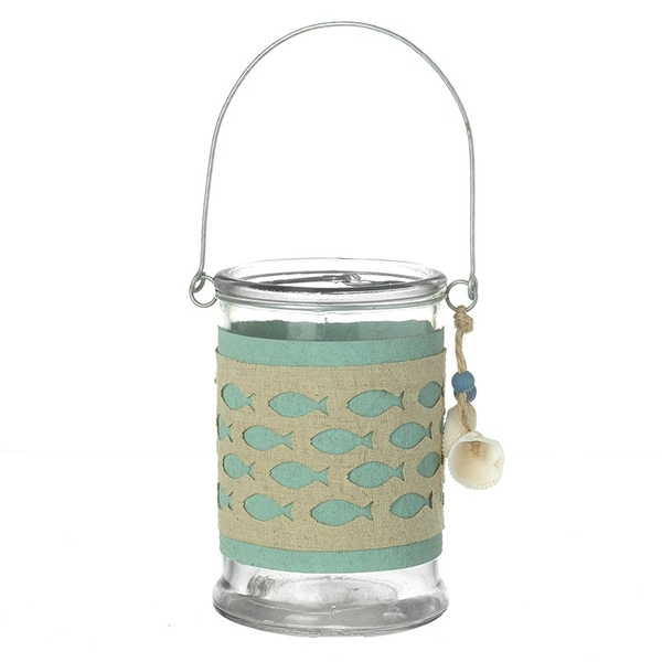 Fish Decorated Tea Light Holder By Heaven Sends