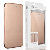 Caseflex iPhone 7 Plus PU Leather Stand Wallet with Felt Lining/ID Slots - Gold (Retail Box)