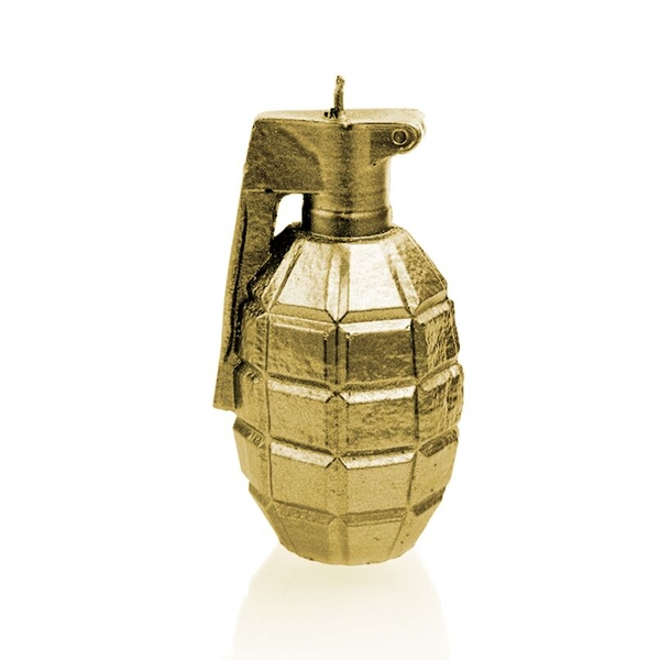 Classic Gold Large Grenade Candle