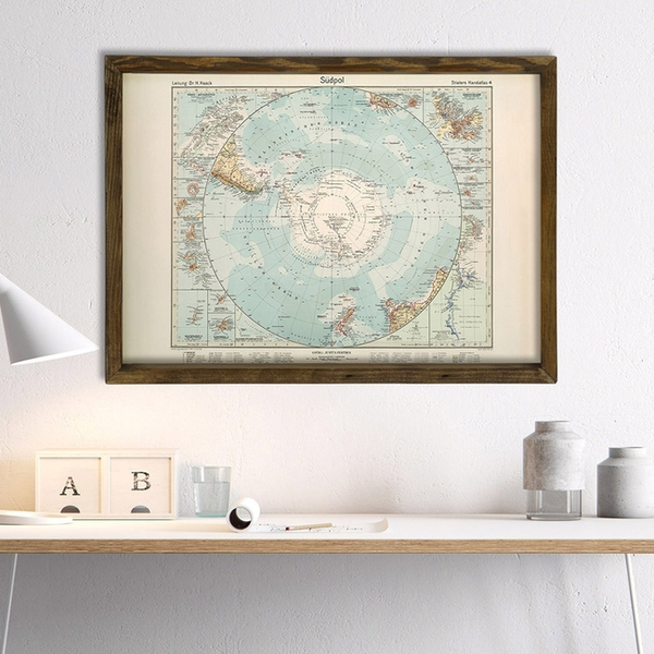 Map029 Multicolor Decorative Framed MDF Painting