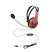Official Licensed PS4 Wired Chat Headset Red for PS4 - Image 3