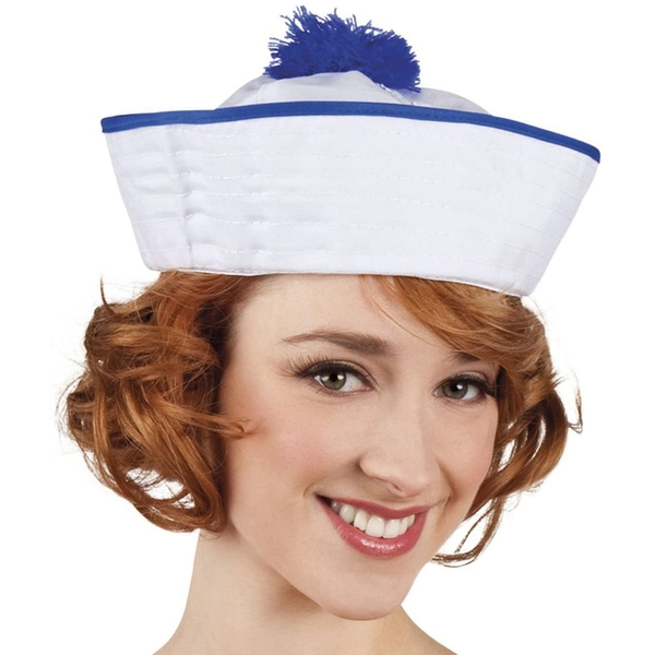 Navy Ahoy Hat (White/Blue)