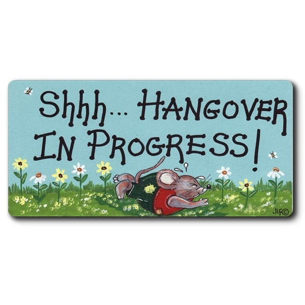 Shh Hangover Smiley Magnet Pack Of 6