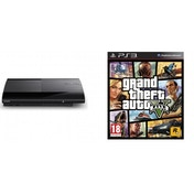 500GB SUPER SLIM Console System Black PS3 Grand Theft Auto 5