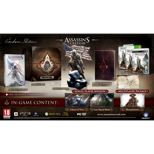 Assassin's Creed III 3 Freedom Edition PC Game