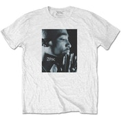 Tupac - Changes Side Photo Men's Small T-Shirt - White
