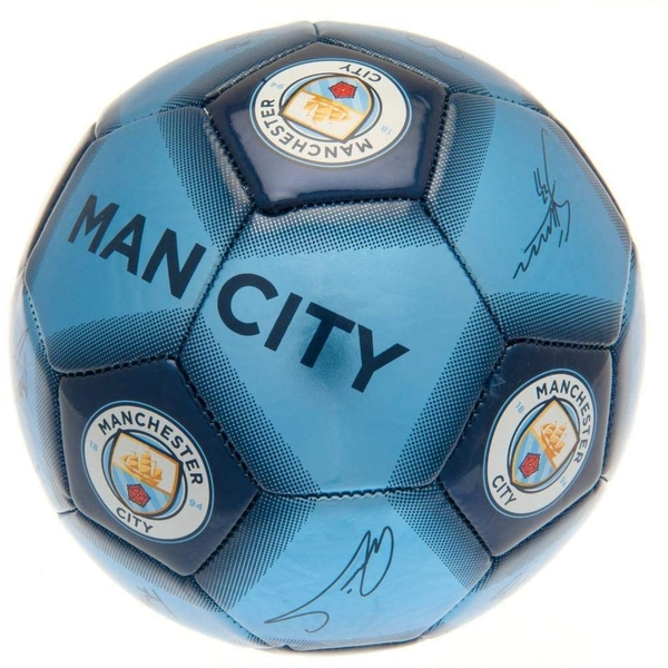 Manchester City FC Blue Football Signature