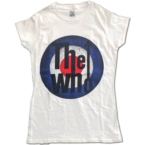 The Who - Vintage Target Women's X-Large T-Shirt - White