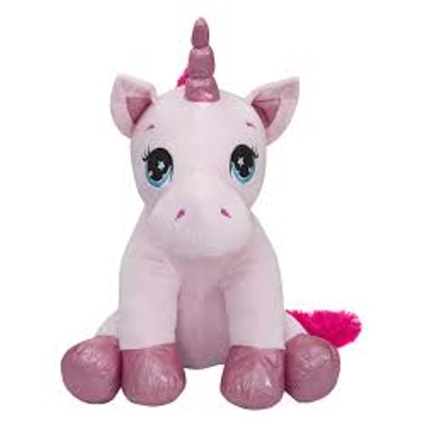 Sitting Unicorn 60cm Plush Toy (Blue & White)