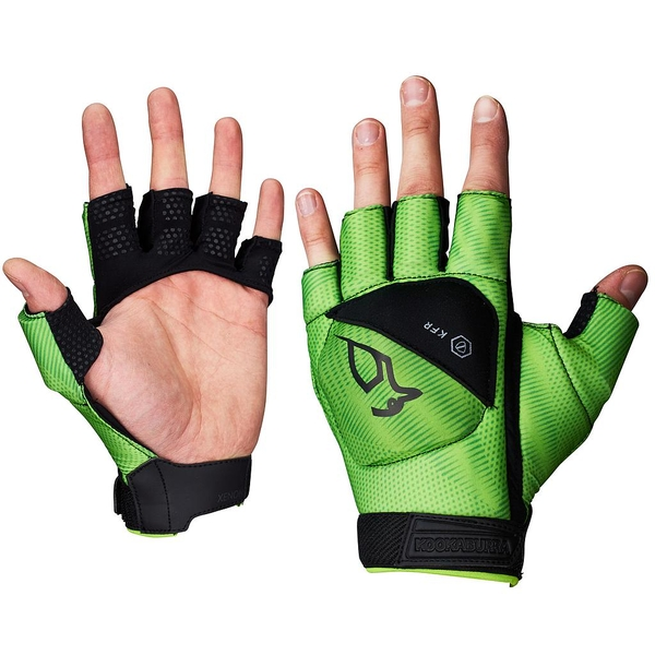 Kookaburra Xenon 1/2 Finger Hand Guard Black/Lime Large LH