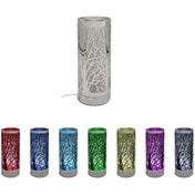 Colour Changing Aroma Forest Lamp Silver (UK Plug)