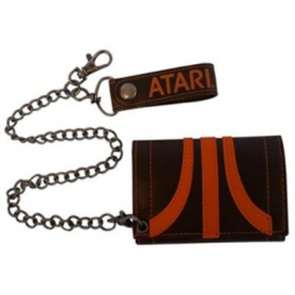 Atari Classic Logo Chain Wallet Brown and Orange