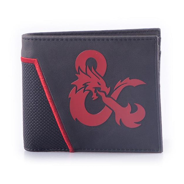 Hasbro - Dungeons & Dragons Ampersand Logo Bi-fold Wallet (Black/Red)