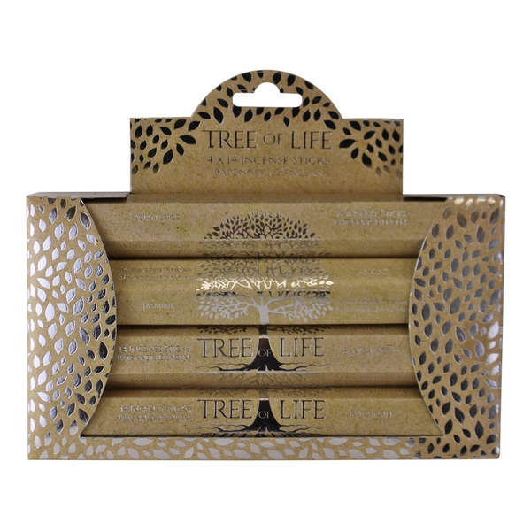 Multi Pack of 4 Assorted Boxes Of Incense Sticks, Tree of Life Design