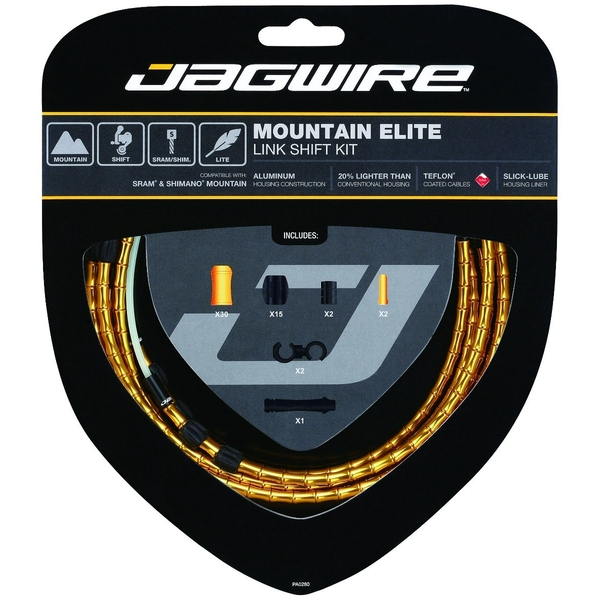 Jagwire Mountain Elite Link Shift Cable Kit Gold